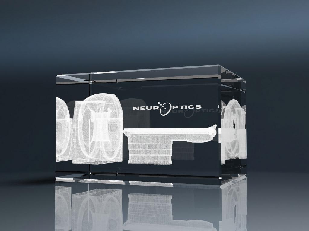 3D Glasquader mit Lasergravur