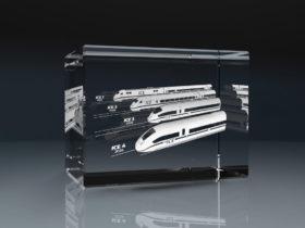 3D Glasquader und Glasblock mit Lasergravur