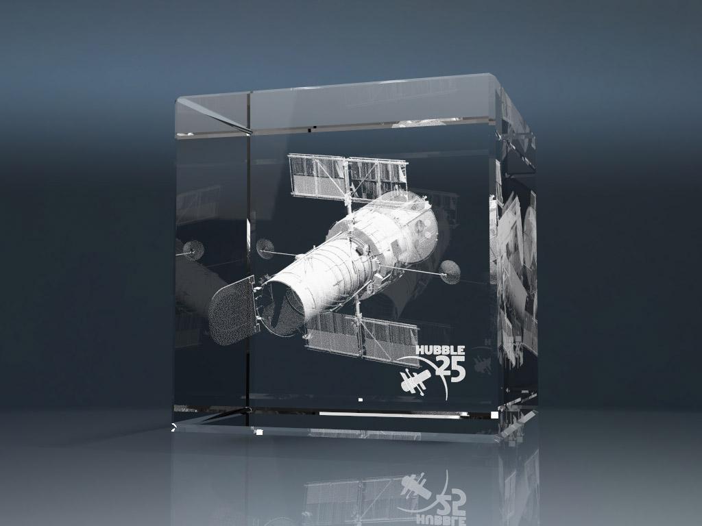 Glaswuerfel 1 - 3D Glasgravur