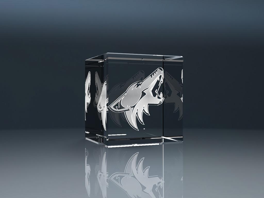3D Glaswürfel mit Lasergravur