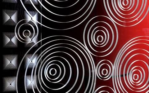 Trennwand mit Glasinnengravur