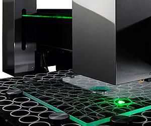 Tischplatte Laserinnengravur