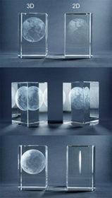 Unterschied 2D und 3D Lasergravur im Glasblock