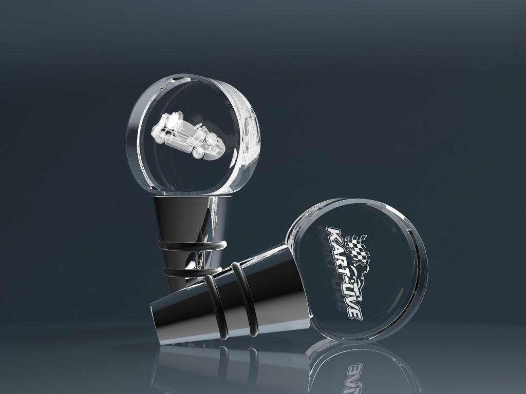 Zwei Glaskorken Plug mit Lasergravur