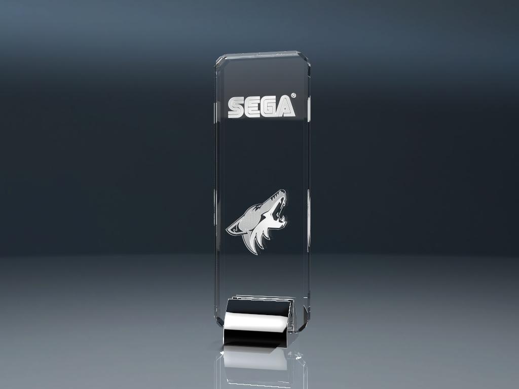 Glaspokal Trophy Celebrity mit Lasergravur