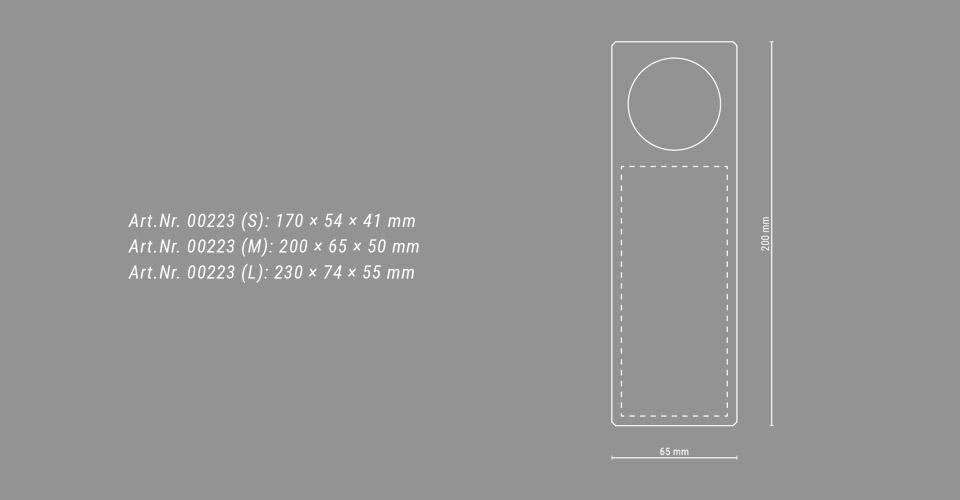 Skizze des Glaspokals Trophy Globe mit Maßangaben
