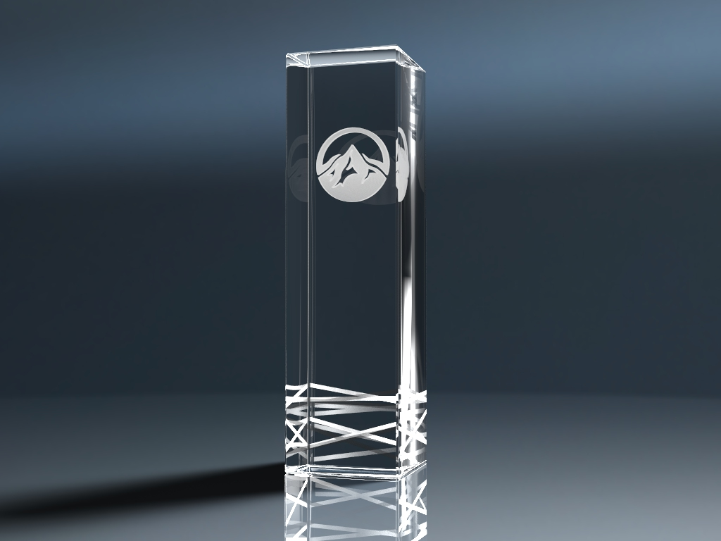 Glaspokal Trophy Royal mit Lasergravur