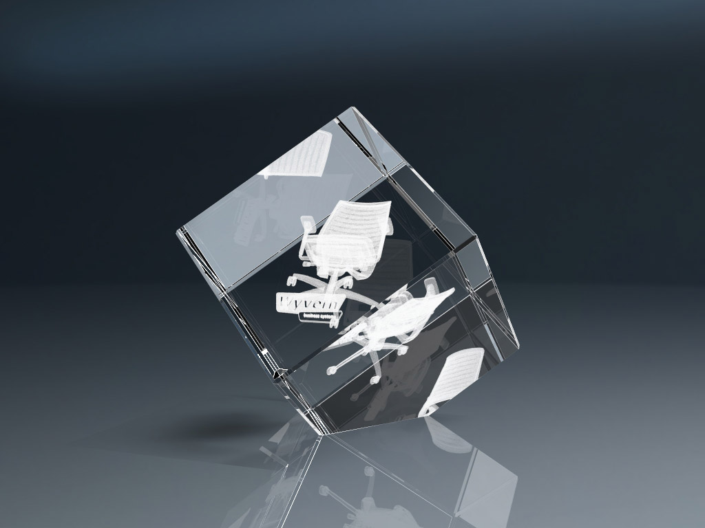 Glaswürfel CC 4 - 3D Glasgravur