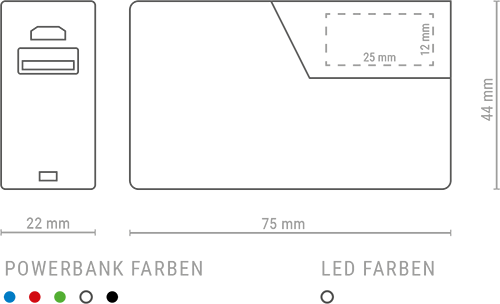 PB 3D skizze - Powerbank 3D