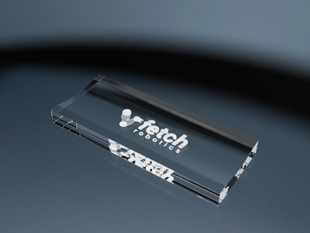 Stifteablage aus Glas mit Gravur