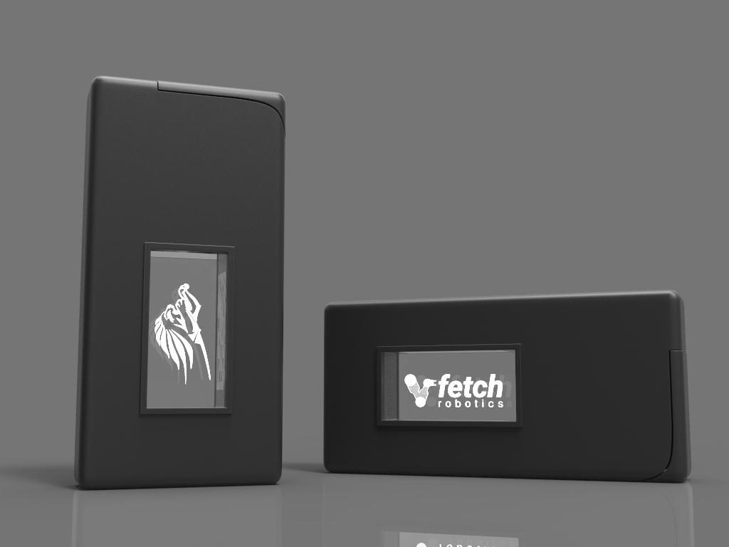 Zwei Stiftehalter Animation mit Glasfenster und Lasergravur