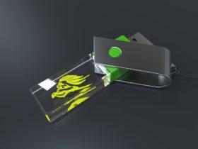 USB Stick Crystal Turn liegend mit Metalldeckel und Glaskörper mit Gravur