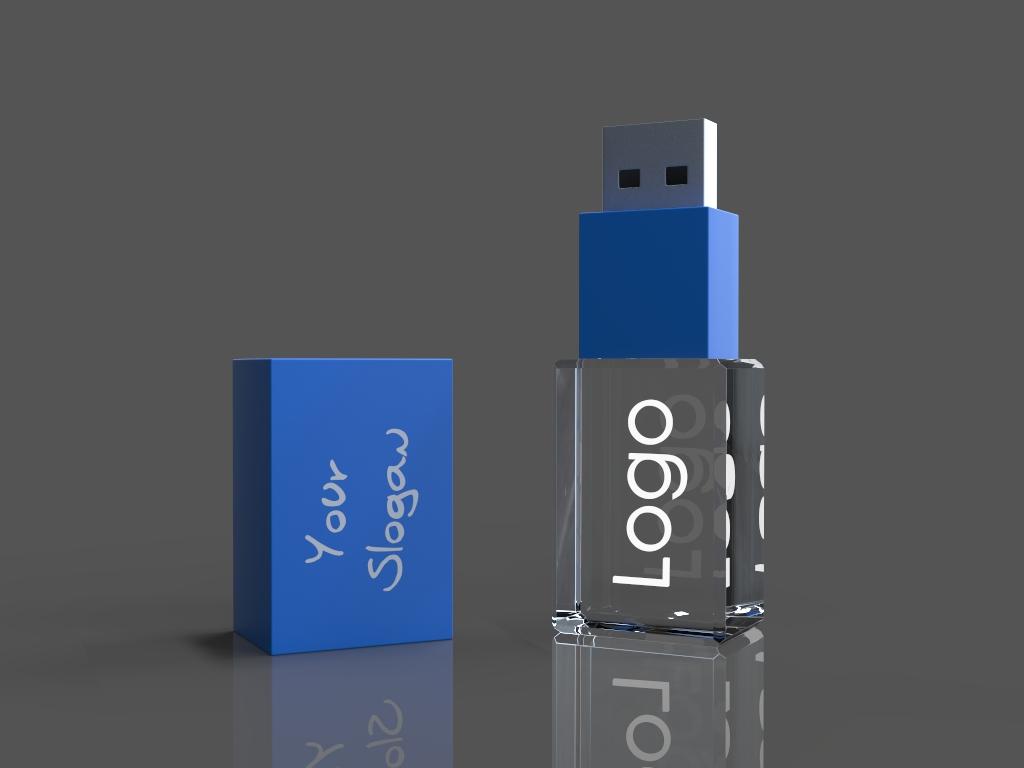 ein USB beleuchtet.1 - USB Sticks aus Glas