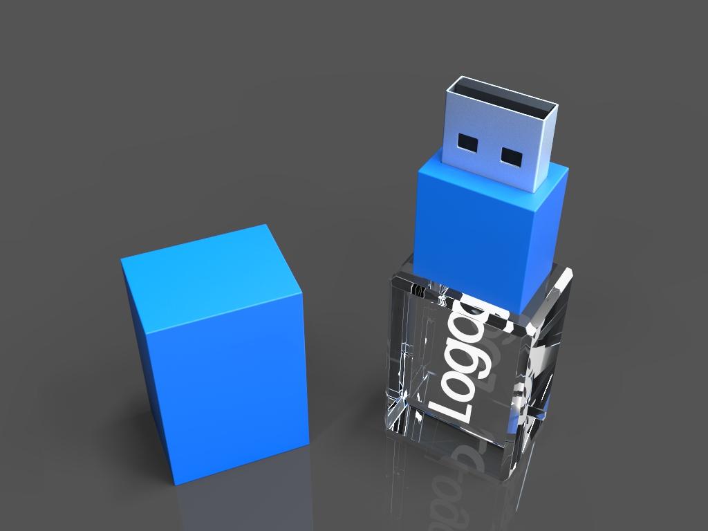 ein USB beleuchtet.18 - USB CRYSTAL COLOUR