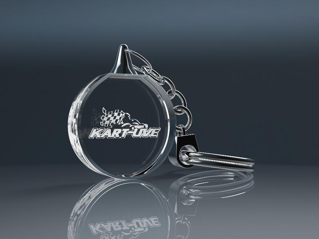 keychain ohne licht 2.11 - Schlüsselanhänger rund