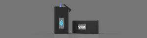 Zwei Feuerzeuge Lighter mit Glasfenster und Lasergravur