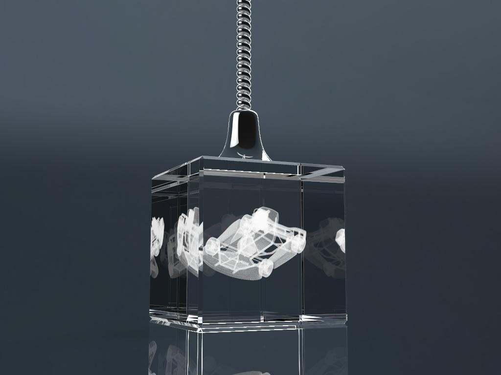 Memohalter aus Glas mit Lasergravur