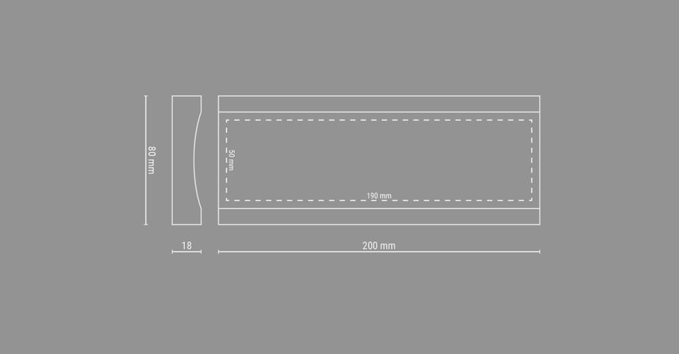 Skizze der Stifteablage Pen Stacker