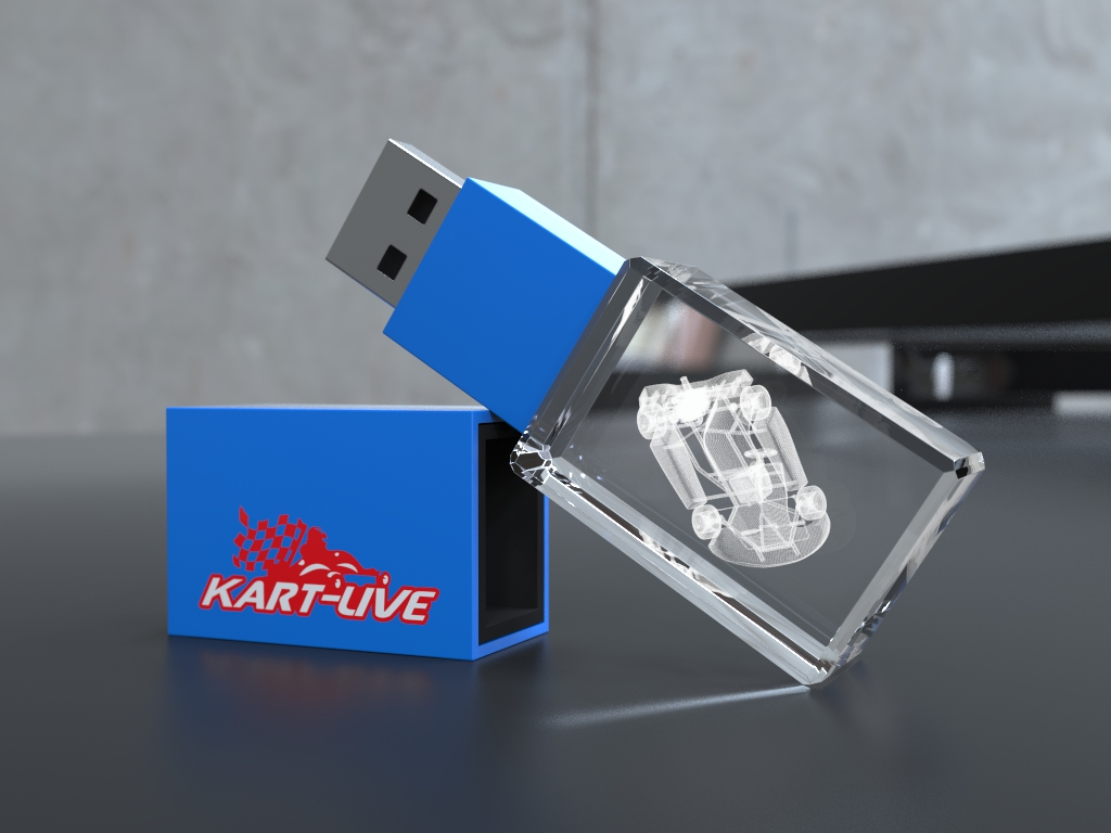 usb halb liegend.29 - USB CRYSTAL COLOUR
