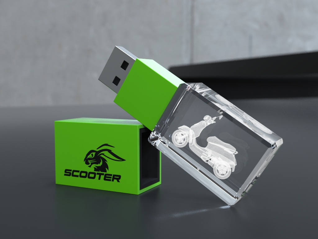 usb halb liegend.37 - USB CRYSTAL COLOUR