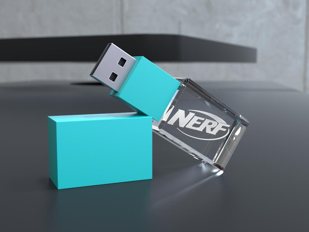 usb halb liegend.39 - USB CRYSTAL COLOUR