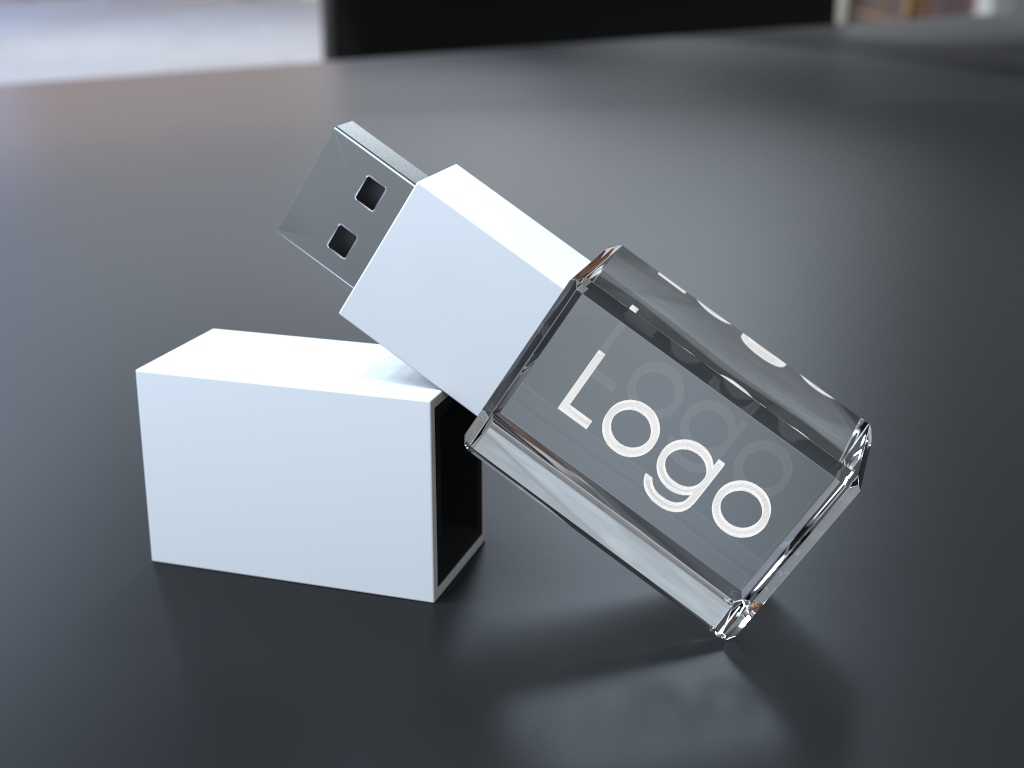 usb halb liegend.41 - USB CRYSTAL COLOUR