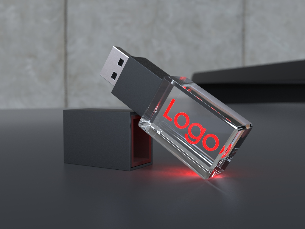 usb halb liegend.43 - USB CRYSTAL COLOUR