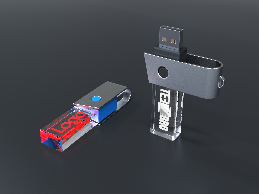 usb halb liegend 5.69 - USB CRYSTAL TURN