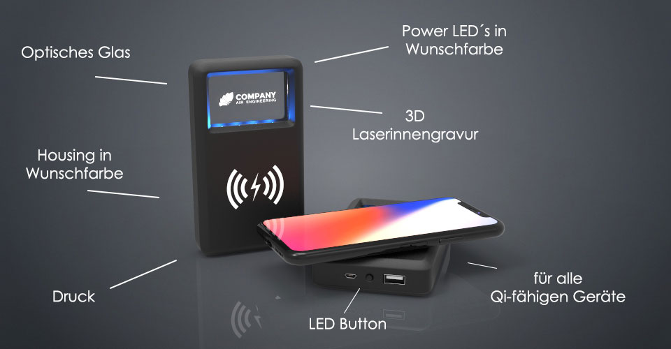 Crystal Powerbank Charger beschreibung - Wireless Charger TO GO