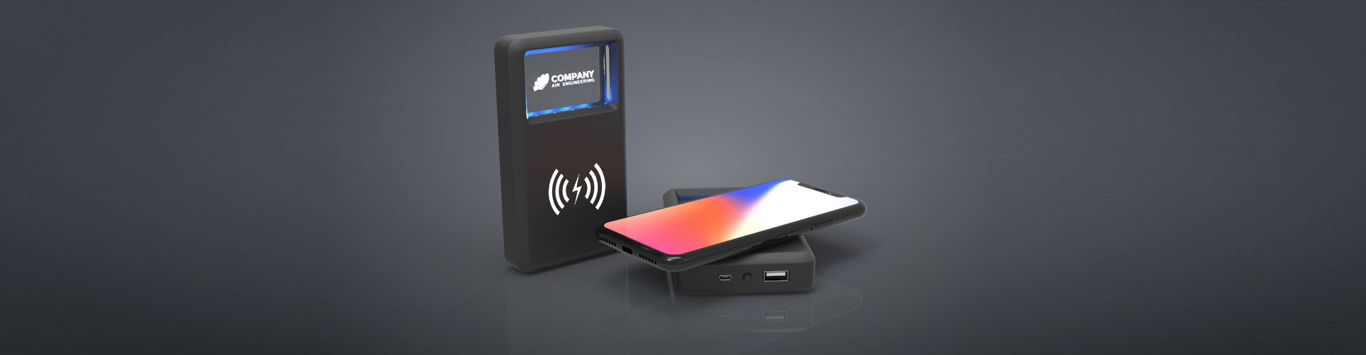 Crystal Powerbank charger 02 - Wireless Charger TO GO