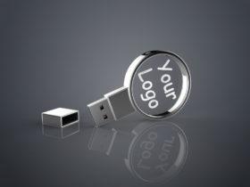 USB Stick Crystal Circle aus Glas mit Gravur