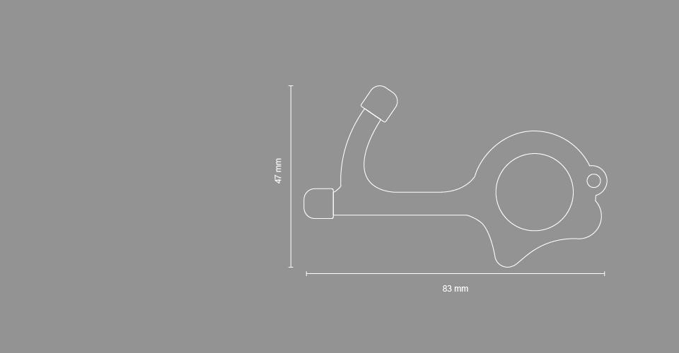 Opener SKizze 03 - Türöffner - Metall  mit Rubber