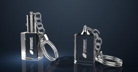 Schlüsselanhänger aus Glas